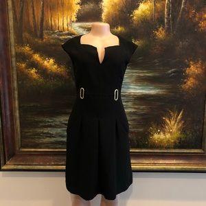 3/$25☀️ Ellen Tracy Black Shift Dress Size 6